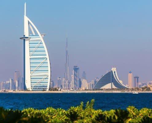 A general view Burj Al Arab, the Arab Sail