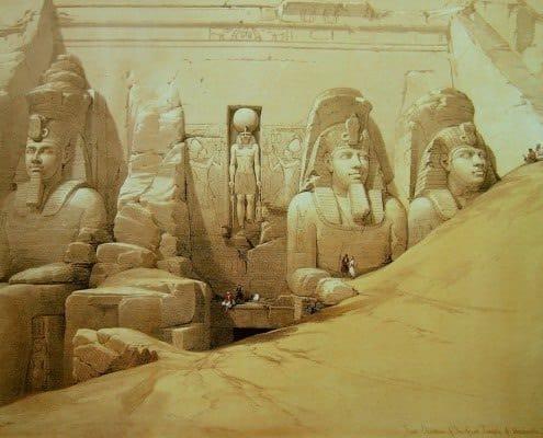 Abu Simbel - David Roberts, 1838