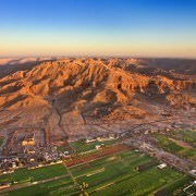 Aerial view over Luxor West Bank