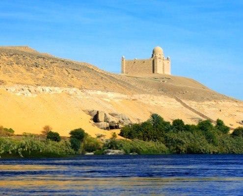 Aga Khan Mausoleum on the banks of the Nile at Aswan