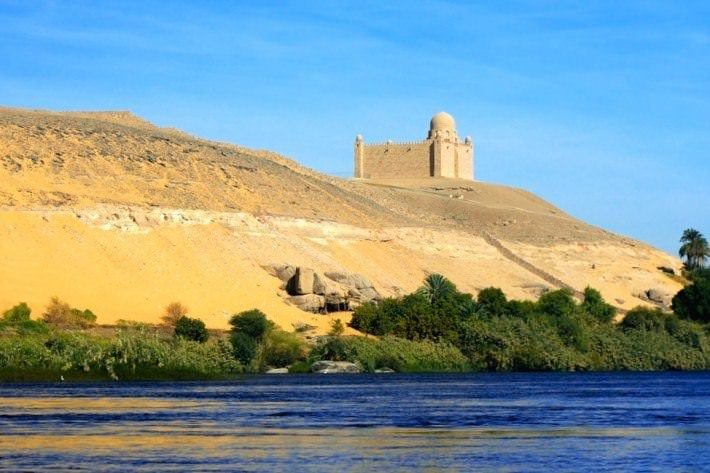 Aga Khan Mausoleum on the banks of the Nile at Aswan