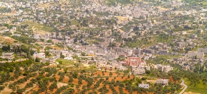 Ajloun town seen from the castle