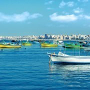 Alexandria Egypt Tours - Fishing boats, Mediterranean Sea, Alexandria