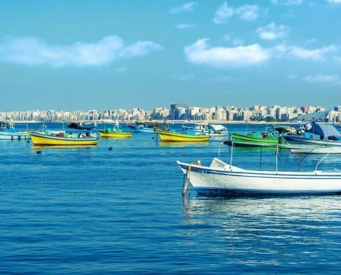 Alexandria Tours - Fishing boats, Mediterranean Sea, Alexandria