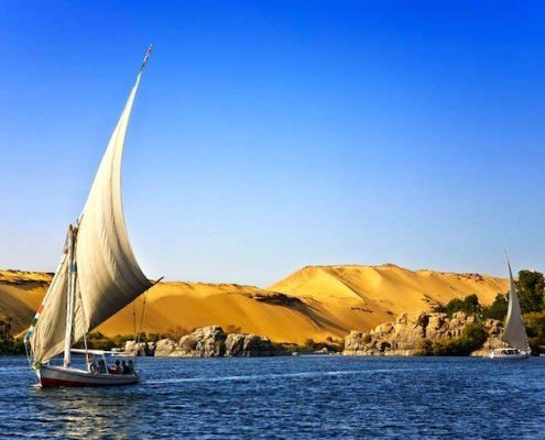 Amazing holiday sceneries - the Nile River at Aswan