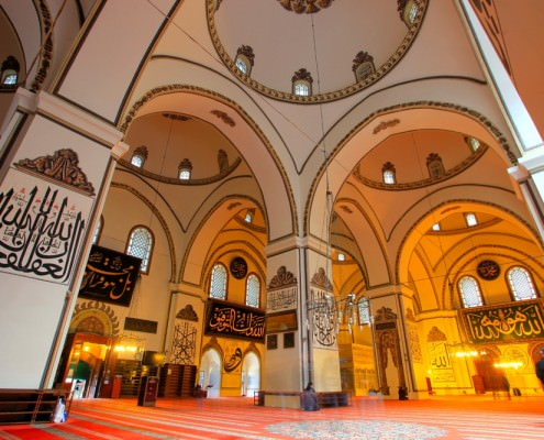 Interior view of Ulu Cami