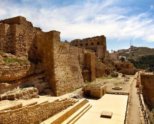 Ancient crusader castle Al Karak, Jordan