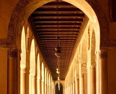 Arches of Mosque of Ahmad Ibn Tulun, Cairo, Egypt