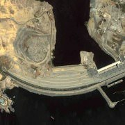 Aswan High Dam seen from space