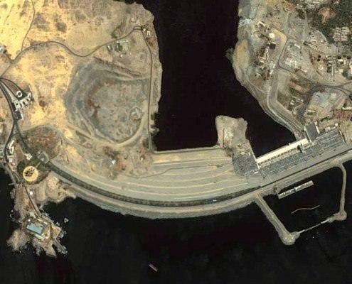 Aswan High Dam seen from space