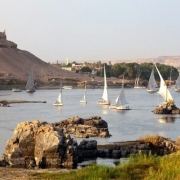 Aswan Tours - Feluccas on the River Nile