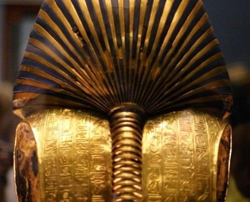 Back of Tutankhamun's funerary mask