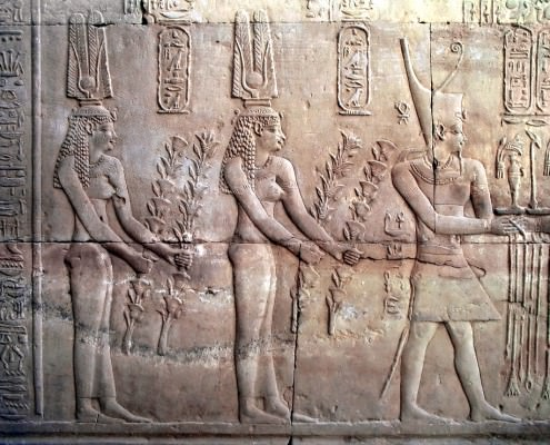 Bas-relief in Temple of Kom Ombo,