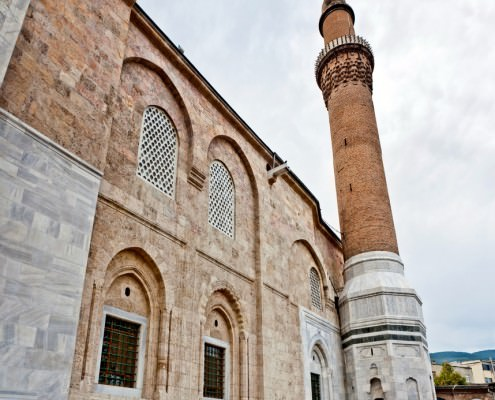 The Grand Mosque is an early Ottoman landmark with elements from the Seljuk architecture