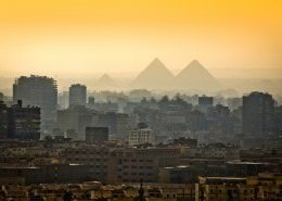 Cairo Tours - Pyramids in the mist, Cairo