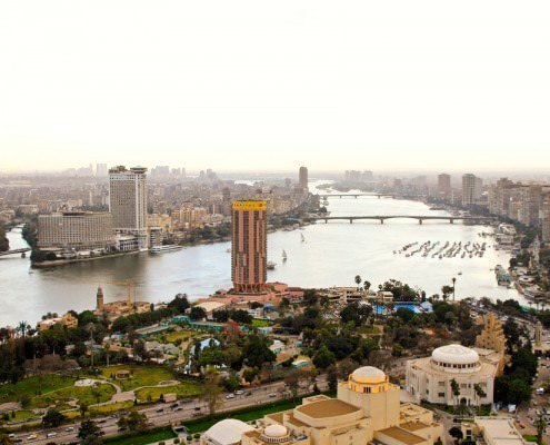Cairo city from Cairo Tower