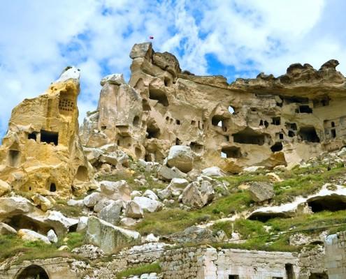 Cavusin monastery in Cappadocia, Turkey