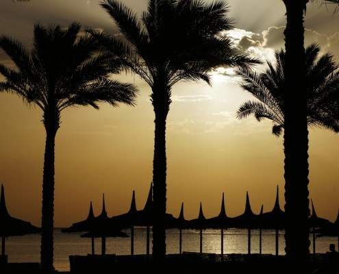 Cheap Egypt Vacation Packages - Sunrise Over the Red Sea in Egypt