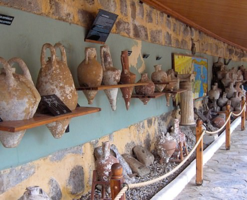Collection of amphoras from different parts of the Mediterranean - Photo by Georges Jansoone