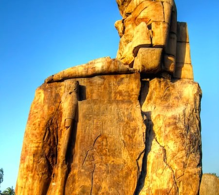 Colossi of Memnon side view