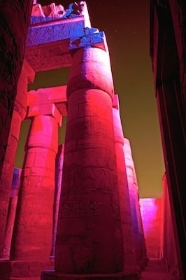 Columns during the Karnak Temple Sound and Light Show