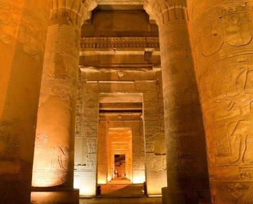 Columns in Sobek Temple, Kom Ombo