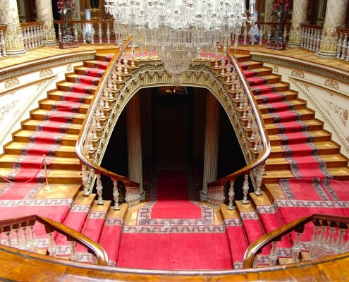 Crystal staircase, Dolmabace Palace
