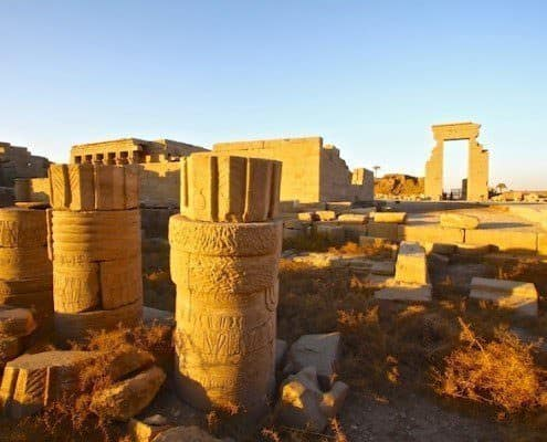 The temple of Dendera is dedicated to Hathor