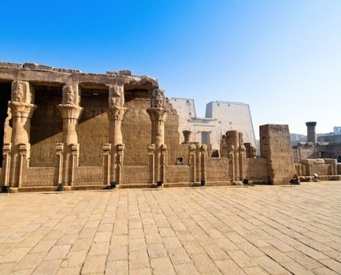 Edfu Temple is dedicated to the falcon god Horus