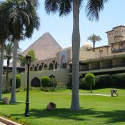 Egypt Luxury Vacations - Mena House Hotel Garden and Pyramid View, Cairo