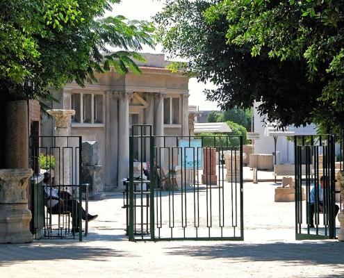 Entrance of the Catacombs of Kom el Shoqafa, Alexandria