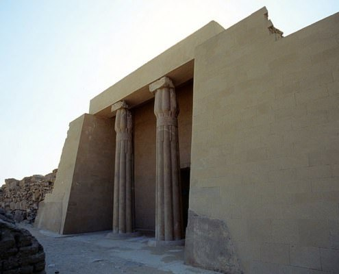 Entrance of the mastaba of Ptahshepses, Abu Sir, Egypt - Photo by Roland Unger