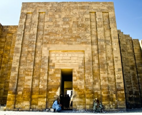 Entrance to the mortuary temple at Sakkara