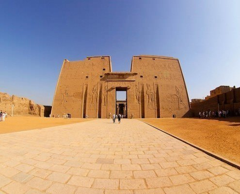 First pylon of Edfu Temple