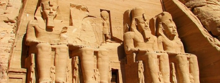 Abu Simbel Temples - Front view of Temple of King Ramses II