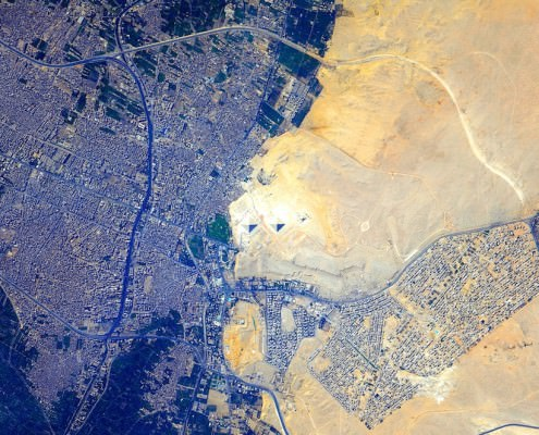 Giza Plateau from Space