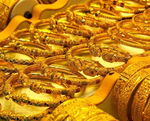 Gold handcraft in Souk of Dubai