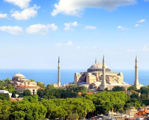 Hagia Irene and the Church Of Hagia Sophia In Istanbul
