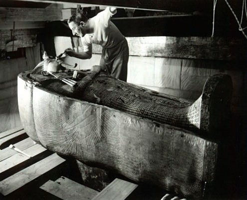 Howard Carter in the Tomb of King Tut