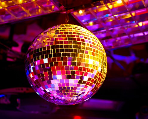 Hurghada Nightlife - Disco ball light reflection