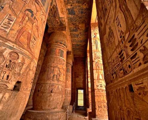 Hypostyle Hall - Columns and hieroglyphs