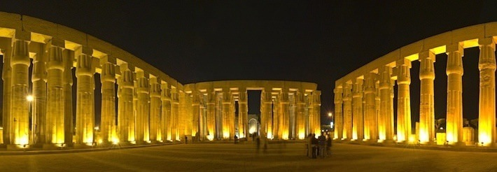 Hypostyle Hall Panorama, Luxor Temple