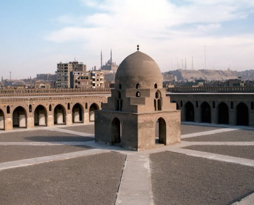 Ibn Tulun Mosque is the largest mosque in Cairo in terms of land area