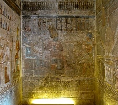 Interior of Hathor Temple - Photo by Olaf Tausch