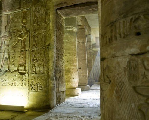 Interior, Temple of Osiris at Abydos