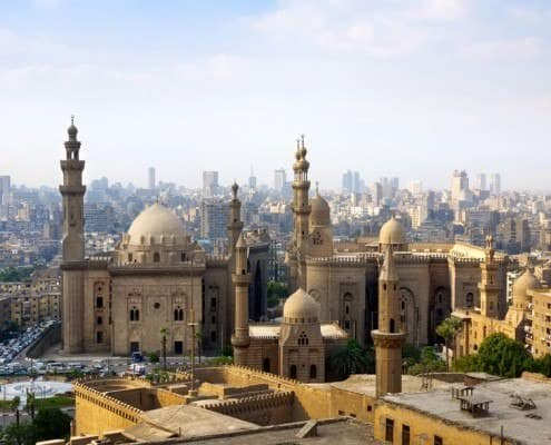 Islamic Cairo skyline as seen from the citadel