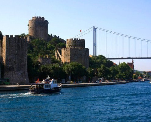 Istanbul city, the view from water, Turkey