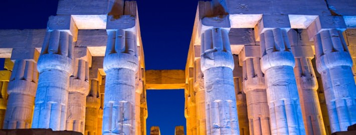 Luxor Temple at night - Luxor, Thebes