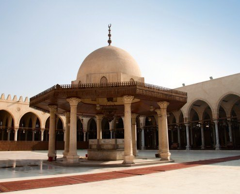 Mosque of Amr Ibn al-As in Cairo is the oldest mosque in Africa
