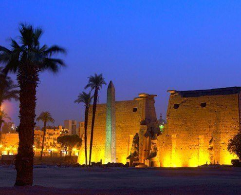 Night view of Temple of Luxor